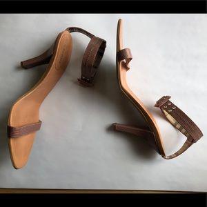 Burberry Pink Snakeskin Heels Size 38.5